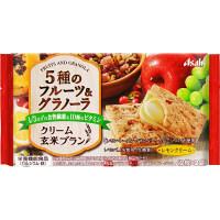 バランスアップ クリーム玄米ブラン 5種のフルーツ&グラノーラ 1袋(2枚×2袋入) アサヒグループ食品 栄養調整食品