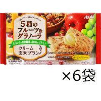 バランスアップ クリーム玄米ブラン 5種のフルーツ&グラノーラ 1箱(6袋入) アサヒグループ食品 栄養調整食品