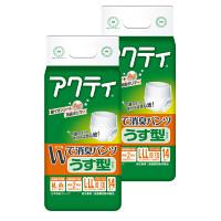 アクティ Wで消臭パンツうす型タイプ L-LL 2パック(28枚入) 日本製紙クレシア