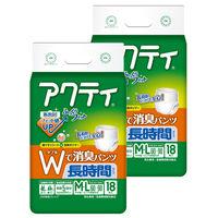 アクティ Wで消臭パンツ長時間タイプ M-L 2パック(36枚入) 日本製紙クレシア