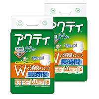 アクティ Wで消臭パンツ長時間タイプ L-LL 2パック(32枚入) 日本製紙クレシア