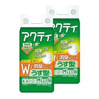 アクティ Wで消臭パンツうす型タイプ M-L 2パック(32枚入) 日本製紙クレシア