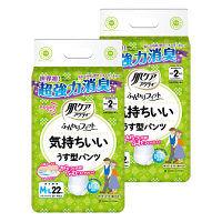 肌ケアアクティ ふんわりフィット気持ちいいうす型パンツML 2パック(44枚入) 日本製紙クレシア