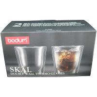 【並行輸入品】ボダム ダブルウォールグラス スカル2個組 0.2L