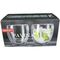 【並行輸入品】ボダム ダブルウォールグラス パヴィーナ2個組 0.25L