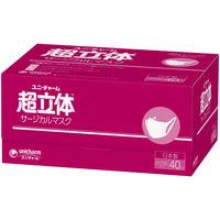 サージカルマスク 超立体タイプ 小さめ 1セット(40枚入×2箱) 日本製 ユニ・チャーム 小さめ 日本製