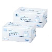 衛生マスク 立体タイプ 1層式 1セット(50枚入×2箱) 日本製 ユニ・チャーム 日本製