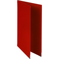 メニューファイル表紙 布貼り A4 アスクル 赤