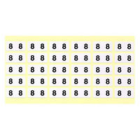 フィリオ ナンバーラベル(モノクロ) 「8」 MS-NR8 1パック(150片入)