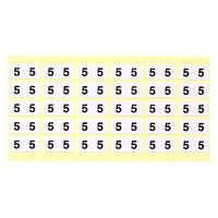 フィリオ ナンバーラベル(モノクロ) 「5」 MS-NR5 1パック(150片入)