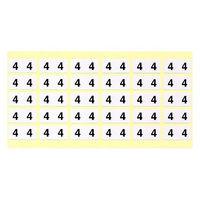 フィリオ ナンバーラベル(モノクロ) 「4」 MS-NR4 1パック(150片入)