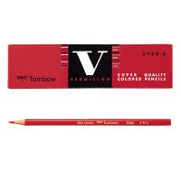 トンボ鉛筆 赤鉛筆(朱色) 8900-V 1ダース(12本入)