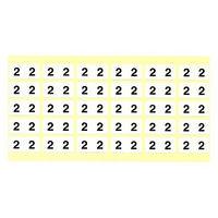 フィリオ ナンバーラベル(モノクロ) 「2」 MS-NR2 1パック(150片入)