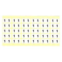 フィリオ ナンバーラベル(モノクロ) 「1」 MS-NR1 1パック(150片入)