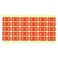 フィリオ ナンバーラベル カラー 「8」 MS-NRK8 1パック(150片入)