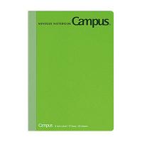 コクヨ キャンパスノート ミニサイズ B7 緑 30枚 B罫6mm ノ-235BN-G 1セット(10冊) (直送品)