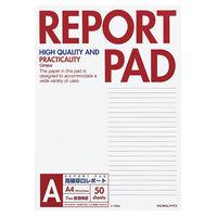 コクヨ キャンパス レポートパッド 表紙巻きタイプ A4 A罫7mm 50枚 レ-725A 1セット(250枚:50枚×5冊)(直送品)