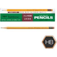 トンボ鉛筆 消しゴム付鉛筆 HB 2558HB 1ダース(12本入)