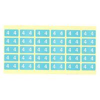 フィリオ ナンバーラベル カラー 「4」 MS-NRK4 1パック(150片入)