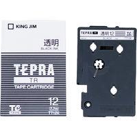 キングジム テプラ TRテープカートリッジ 12mm 透明ラベル(黒文字) 1個 TT12K