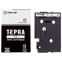 キングジム テプラ TRテープカートリッジ 9mm 白ラベル(黒文字) 1個 TC9S