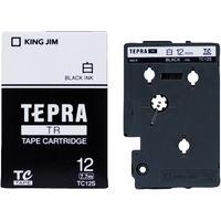 キングジム テプラ TRテープカートリッジ 12mm 白ラベル(黒文字) 1個 TC12S
