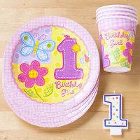 ファーストバースデー テーブル4名セット ピンク【アムスキャン】