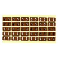 フィリオ ナンバーラベル カラー 「3」 MS-NRK3 1パック(150片入)