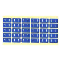 フィリオ ナンバーラベル カラー 「1」 MS-NRK1 1パック(150片入)