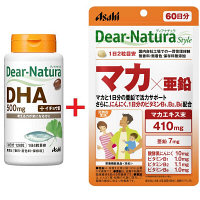 ディアナチュラ(Dear-Natura) サプリメントお買い得セット(DHA500mg withイチョウ葉30日+マカ×亜鉛60日) アサヒグループ食品