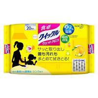 食卓クイックル ウェットクロス レモンの香り 1個(20枚入)