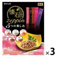 懐石zeppin キャットフード 5つの楽しみ 220g 1セット(3個) 日清ペットフード