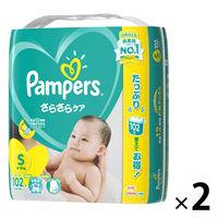 パンパース おむつ テープ S(4~8kg) 2パック(204枚入) さらさらケア ウルトラジャンボ オムツ P&G