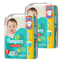 パンパース おむつ パンツ S(4~8kg) 2パック(160枚入) さらさらパンツ ウルトラジャンボ オムツ P&G