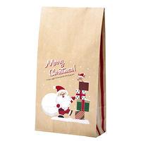 【クリスマス】 角底袋 プレゼントサンタ 中 35-5491 1包(50枚)