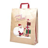 クリスマスサンタ手提げ紙袋 大 50枚