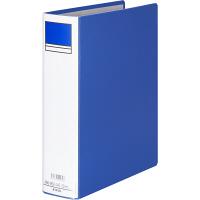 アスクル パイプ式ファイル片開き ベーシックカラー(2穴) A4タテ とじ厚50mm背幅66mm ブルー