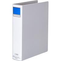 アスクル パイプ式ファイル片開き ベーシックカラー(2穴) A4タテ とじ厚50mm背幅66mm グレー