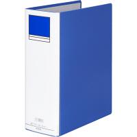 アスクル パイプ式ファイル片開き ベーシックカラー(2穴) A4タテ とじ厚80mm背幅96mm ブルー