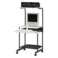 白井産業 パソコンデスク(複合機設置タイプ) アイボリー (直送品)