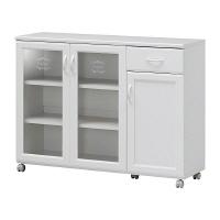 白井産業 台所回りの食器や小物をひとまとめに収納出来る幅広カウンターワゴン 1台 (直送品)