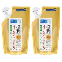 肌研(ハダラボ) 極潤 オイルクレンジング 詰替 180ml×2個 ロート製薬