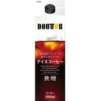ドトールコーヒー アイスコーヒー 無糖 1.0L 1箱(6本入)