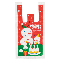 クリスマスレジ袋 S 100枚入