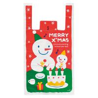 【クリスマス】 スノーマンレジ袋ーL(100枚) W300×H550×D150mm XS-L 1パック(100枚) HEADS