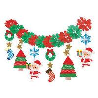 季節装飾 プレゼントサンタガーランド 1枚袋入り【クリスマス】