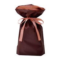 巾着袋 ブラウン 小 50P 1包(50枚)袋入【クリスマス】 (取寄品)