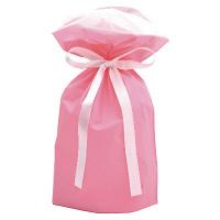 巾着袋 ピンク 小 50P 1包(50枚)袋入【クリスマス】 (取寄品)