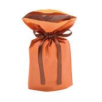 巾着袋 オレンジ 小 50P 1包(50枚)袋入【クリスマス】 (取寄品)