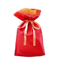 巾着袋 レッド 中 50P 1包(50枚)袋入【クリスマス】 (取寄品)